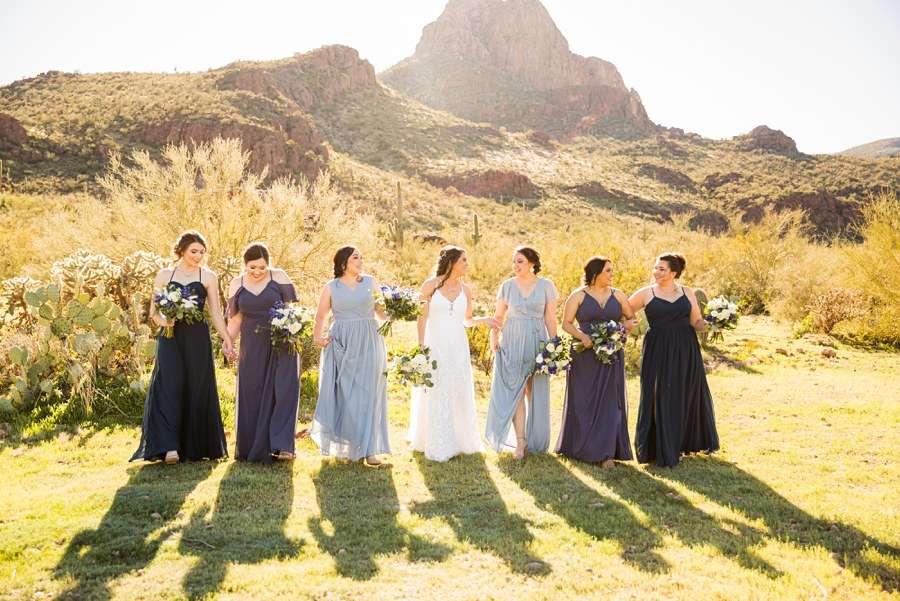Jessie and Aaron: Arizona Desert Elopement Photography ladies walking