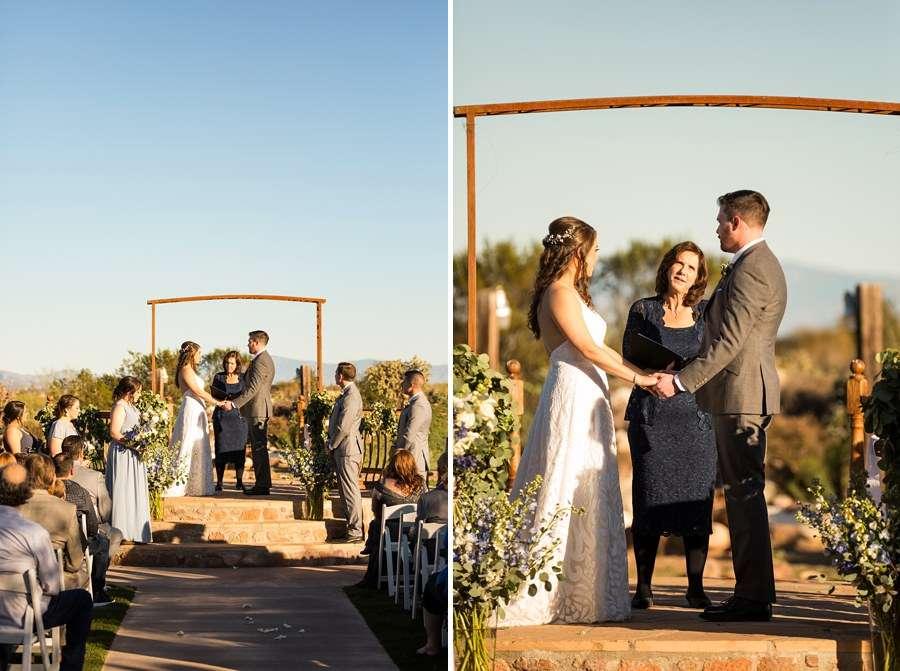 Jessie and Aaron: Arizona Desert Elopement Photography ceremony time
