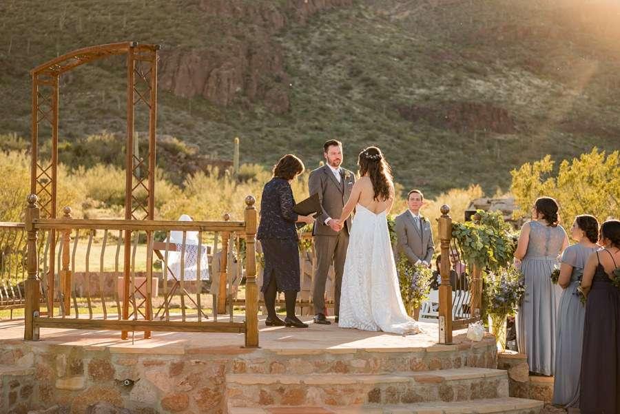 Jessie and Aaron: Arizona Desert Elopement Photography groom