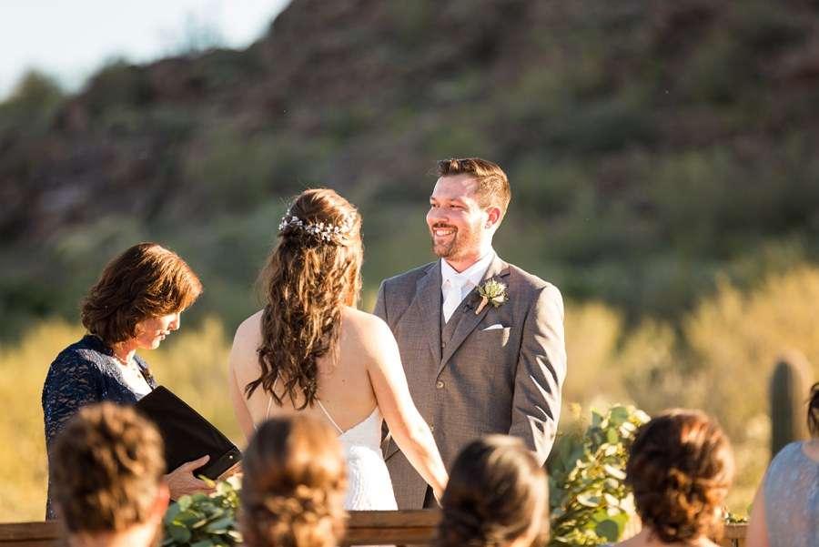 Jessie and Aaron: Arizona Desert Elopement Photography groom smile