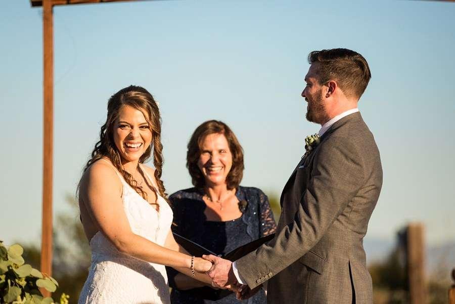 Jessie and Aaron: Arizona Desert Elopement Photography happy couple