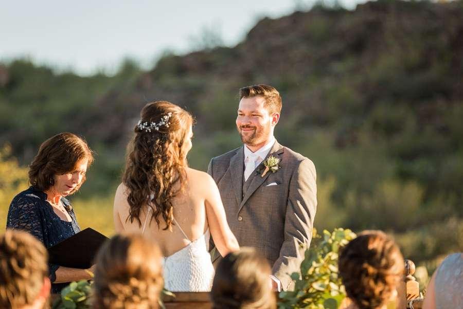 Jessie and Aaron: Arizona Desert Elopement Photography happy groom