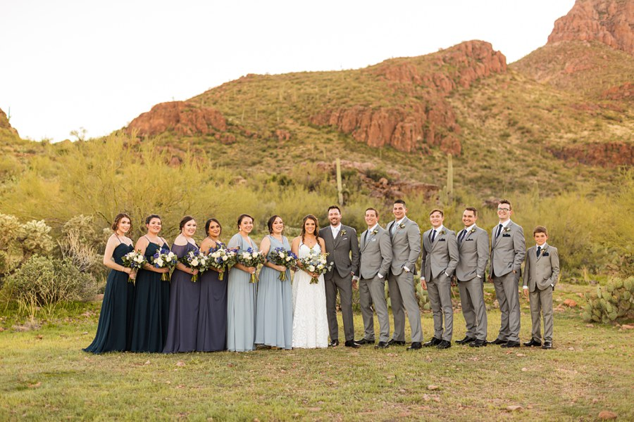 Jessie and Aaron: Arizona Desert Elopement Photography formal bridal party
