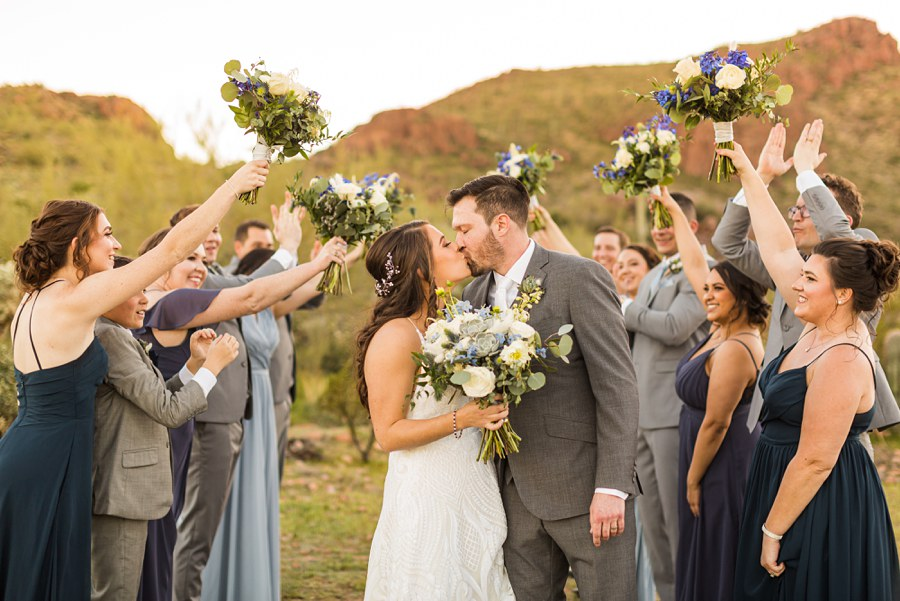 Jessie and Aaron: Arizona Desert Elopement Photography fun bridal party