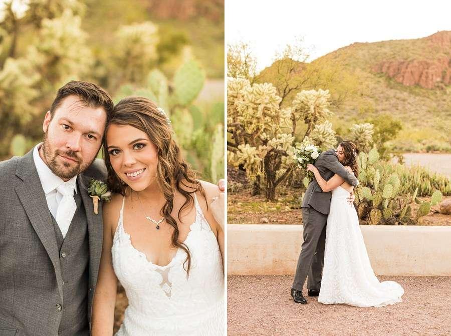 Jessie and Aaron: Arizona Desert Elopement Photography cacti