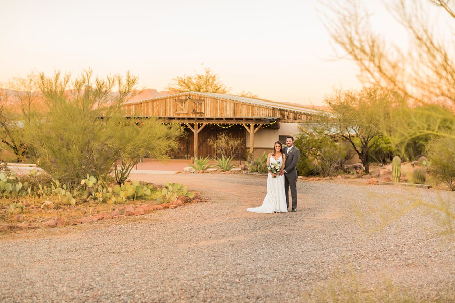 Jessie and Aaron: Arizona Desert Elopement Photography sunset venue