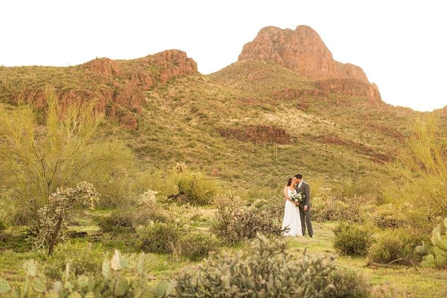 Jessie and Aaron: Arizona Desert Elopement Photography southwest sunset