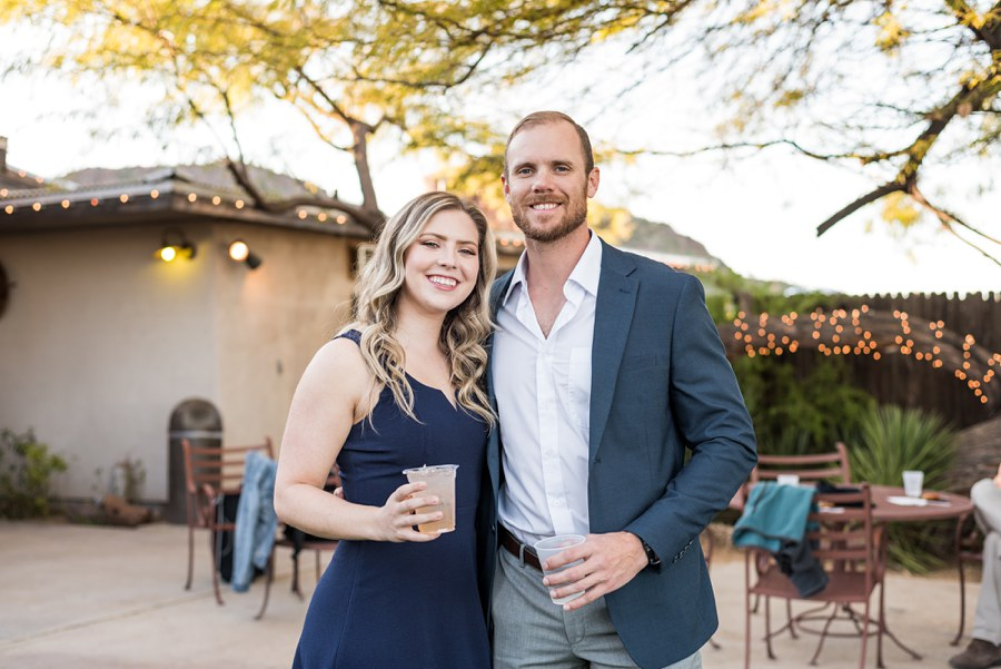Jessie and Aaron: Arizona Desert Elopement Photography guest at cocktail