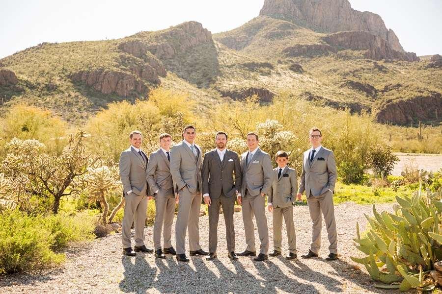 Jessie and Aaron: Stardance Tucson Wedding formal groomsmen