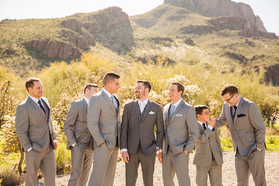 Jessie and Aaron: Stardance Tucson Wedding laughing groomsmen