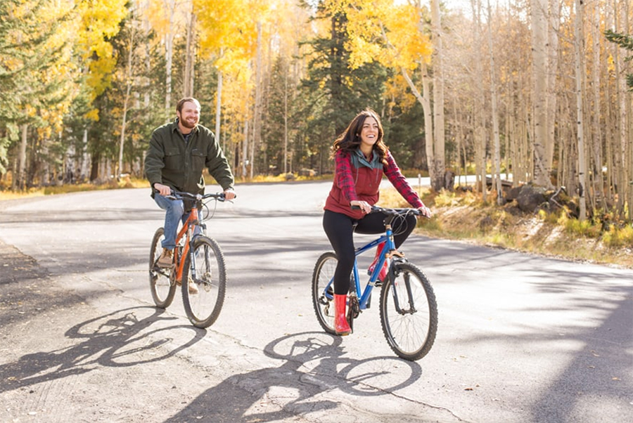 Incorporating Your Hobbies into Your Engagement Session Mountain Bikes