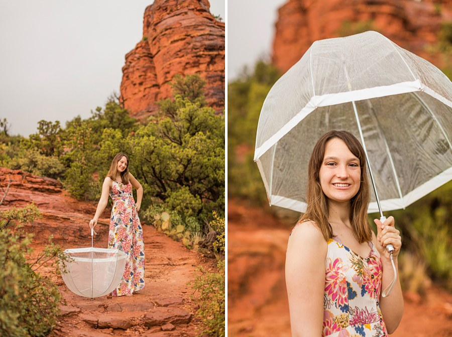 Grace: Red Rocks Arizona Photography umbrella