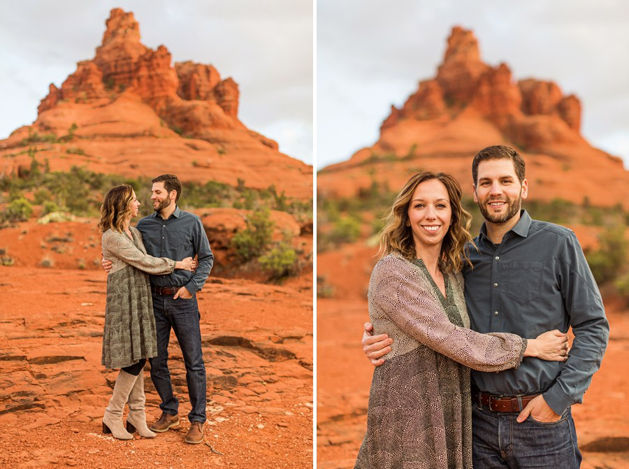 Hartman Family: Sedona Bell Rock Portrait Session mom and dad