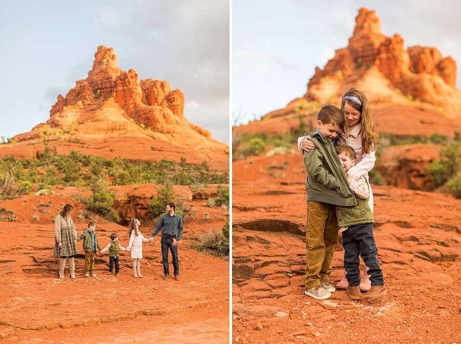 Hartman Family: Sedona Bell Rock Portrait Session hug