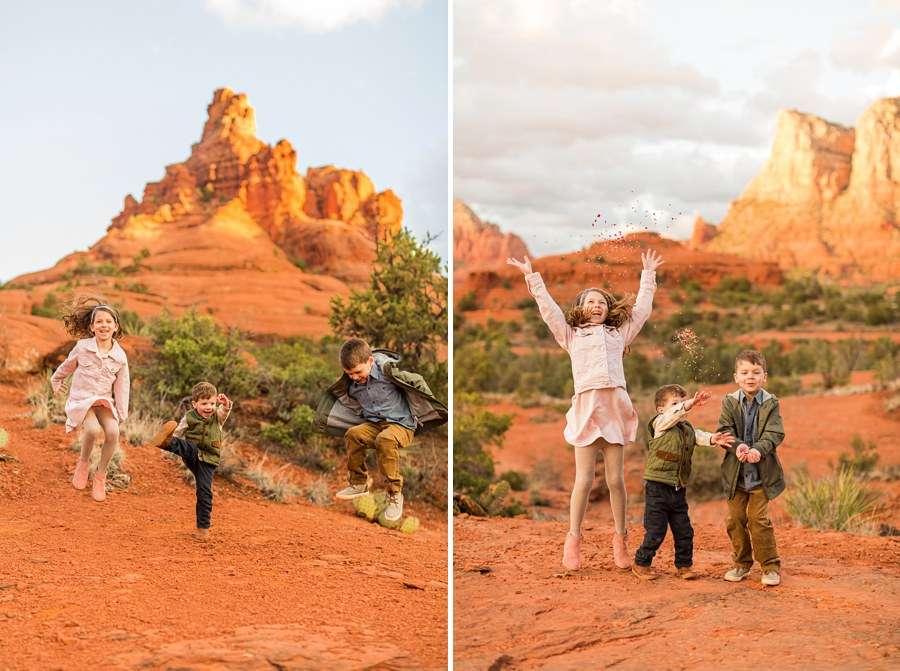 Hartman Family: Sedona Arizona Family Photography happy