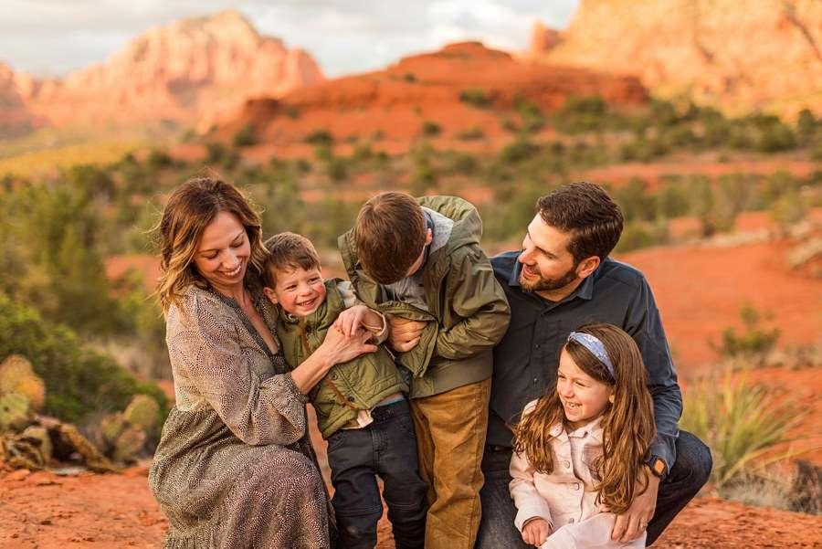 Hartman Family: Sedona Arizona Family Photography laughter