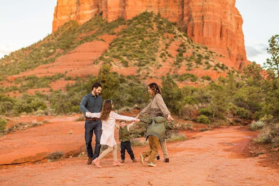 Hartman Family: Sedona Arizona Family Photography spinning