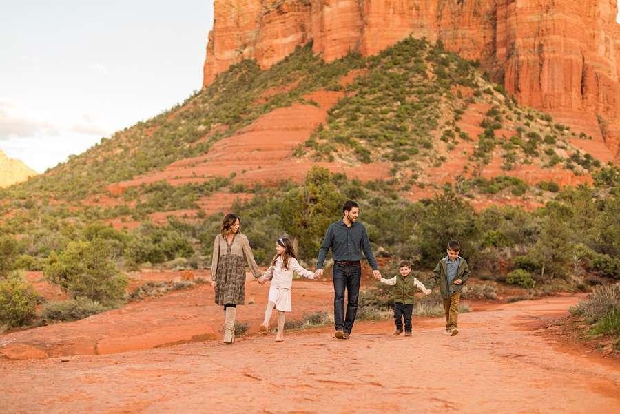 Hartman Family: Sedona Arizona Family Photography walking together