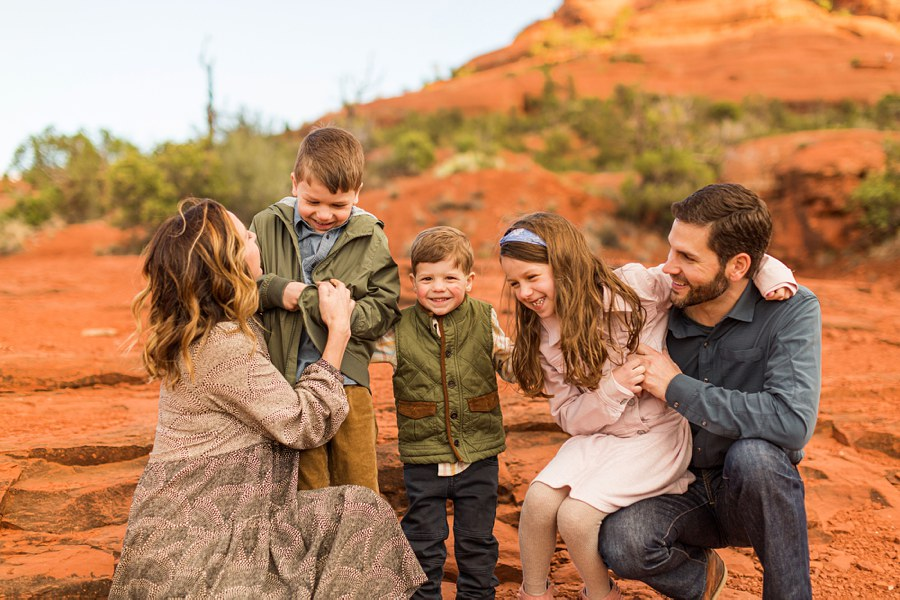 Hartman Family: Sedona Bell Rock Portrait Session smiles