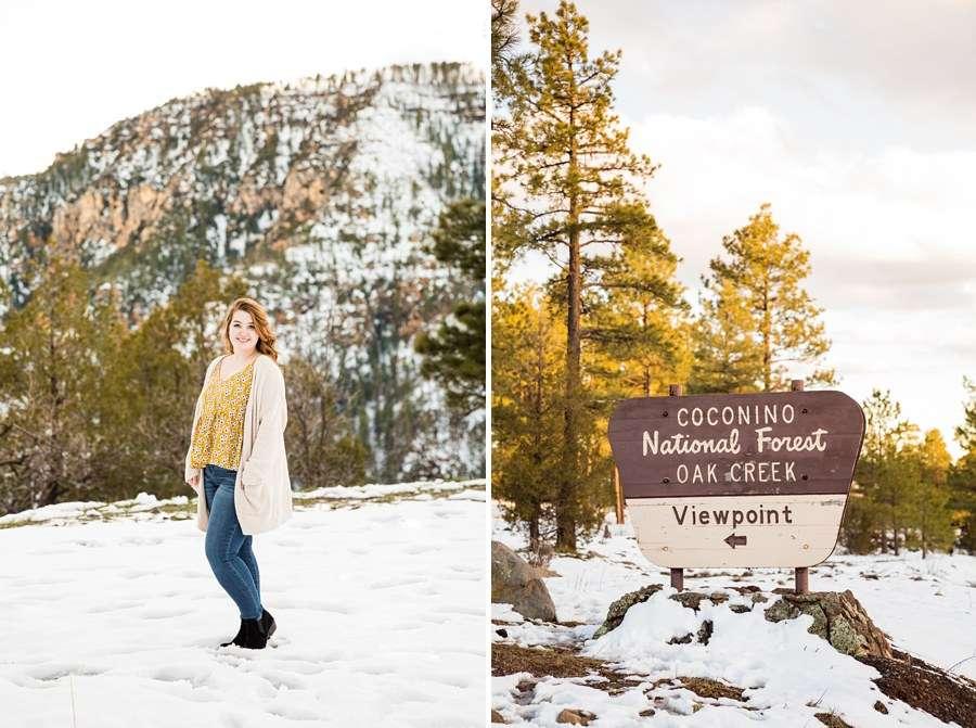 Shelby: Northern Arizona University Session Photography sign