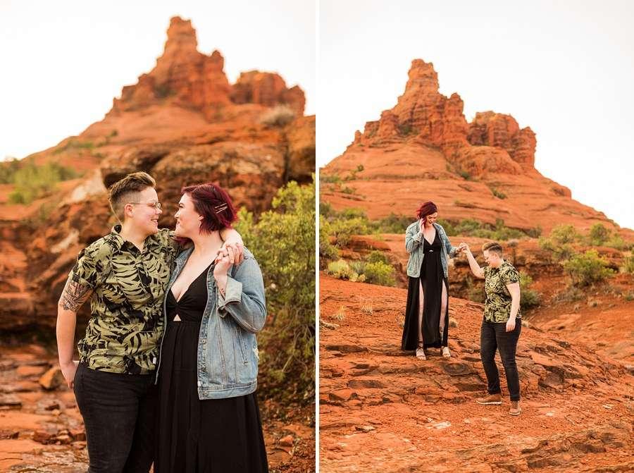 Shelby and Ana: Sedona Arizona Engagement Photography Sessions exploring