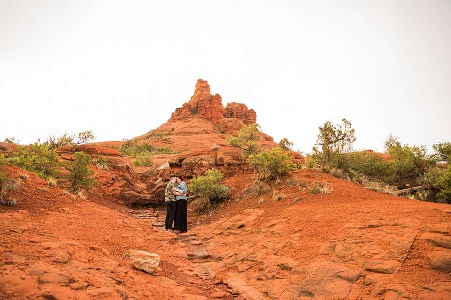 Shelby and Ana: Sedona Arizona Engagement Photography Sessions red rocks