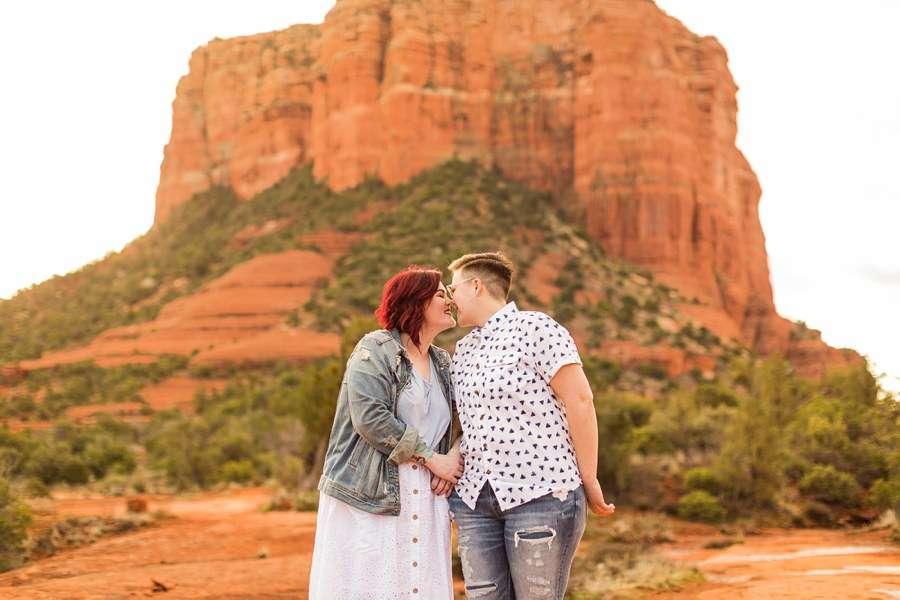 Shelby and Ana: Red Rocks Arizona Portraits love