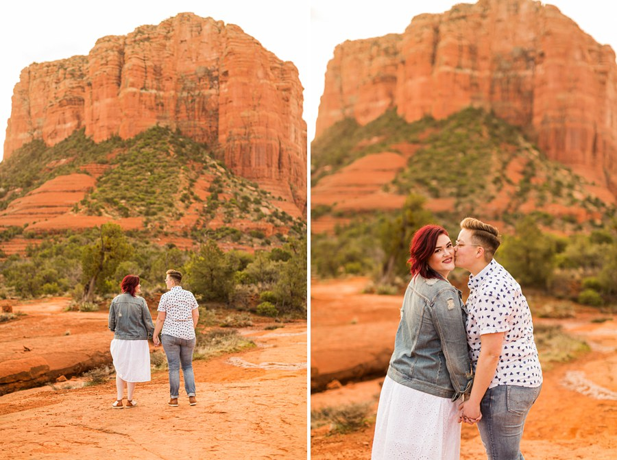 Shelby and Ana: Red Rocks Arizona Portraits kisses