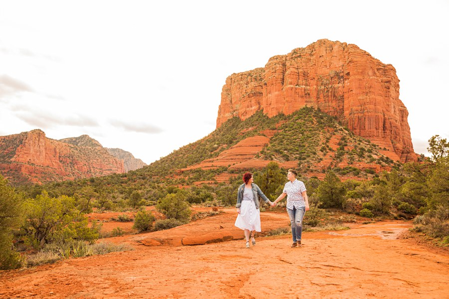 Shelby and Ana: Sedona Arizona Engagement Photography Sessions fun