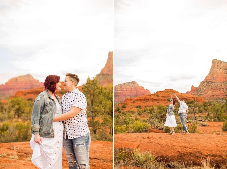 Shelby and Ana: Red Rocks Arizona Portraits dancing