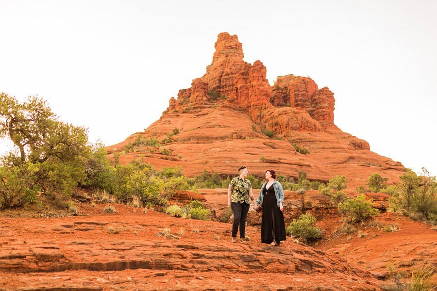 Shelby and Ana: Sedona Arizona Engagement Photography Sessions bell rock