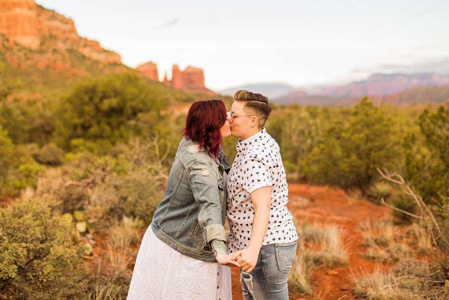 Shelby and Ana: Red Rocks Arizona Portraits loving