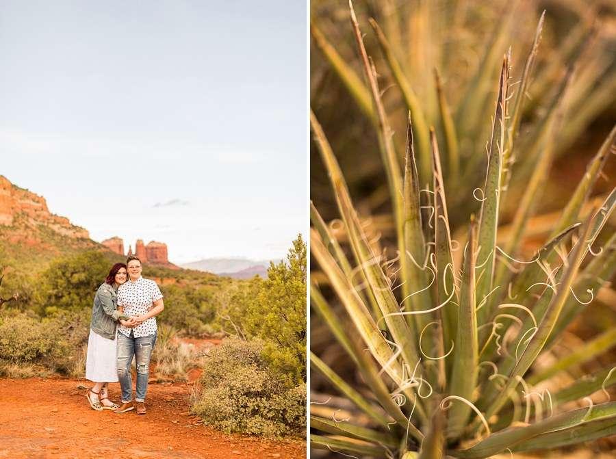Shelby and Ana: Sedona Arizona Engagement Photography Sessions couple
