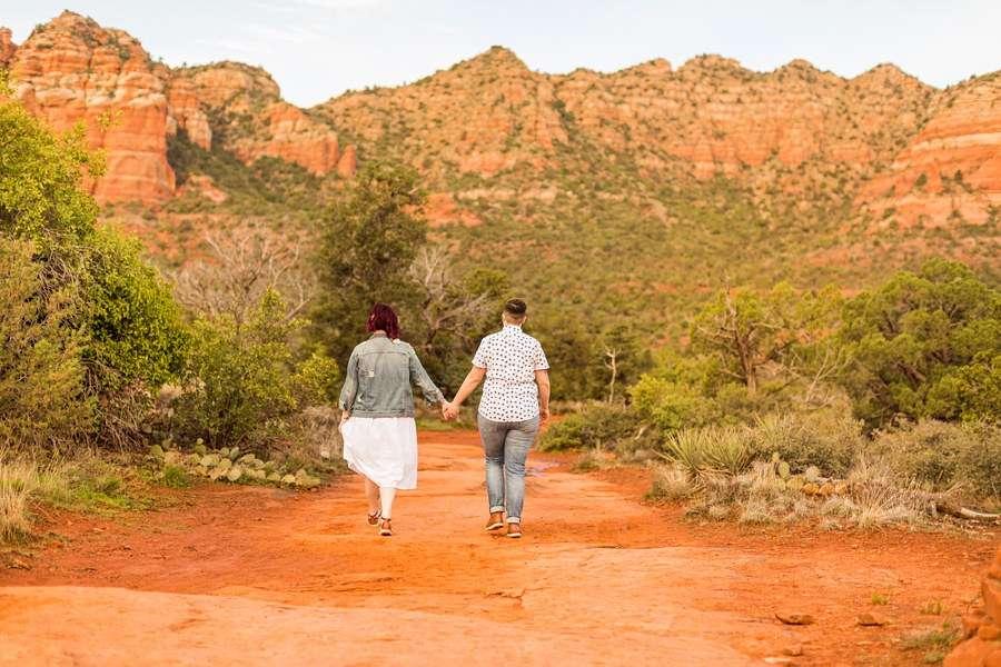 Shelby and Ana: Red Rocks Arizona Portraits walking away