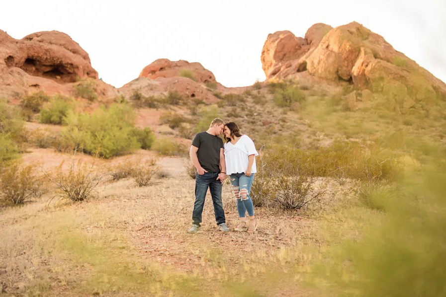 Incorporating Your Hobbies into Your Engagement Session Papago Park