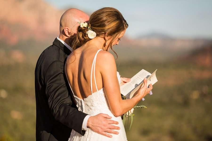 Holly and Erick - AZ Wedding Photographer Sedona - Reading