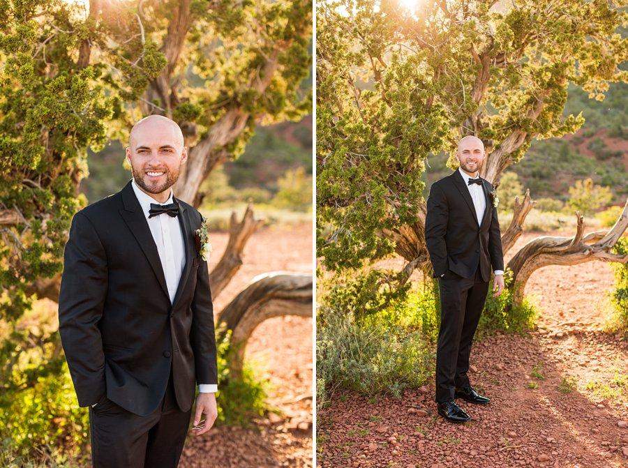 Holly and Erick - AZ Wedding Photographer Sedona - Groom
