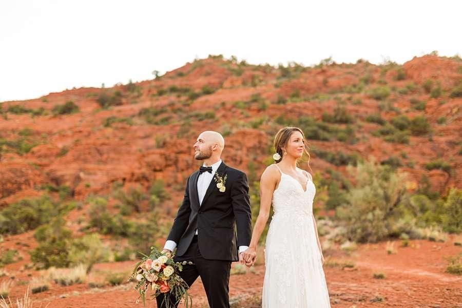 Holly and Erick - Sedona Arizona Elopement Photography - Mr and Mrs