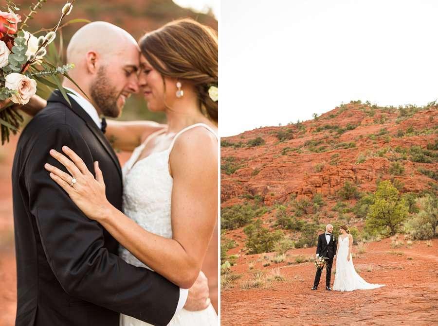 Holly and Erick - AZ Wedding Photographer Sedona - Intimate Love