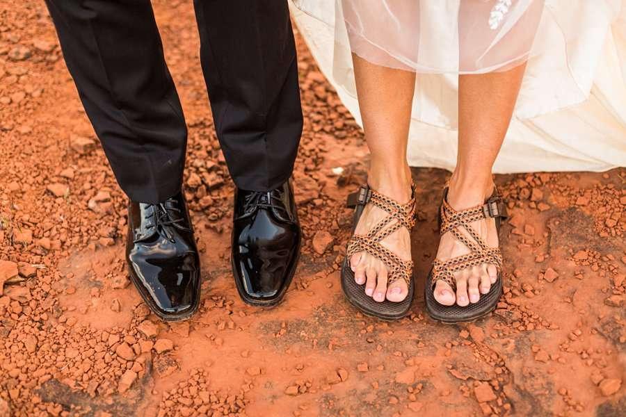 Holly and Erick - AZ Wedding Photographer Sedona - Shoes