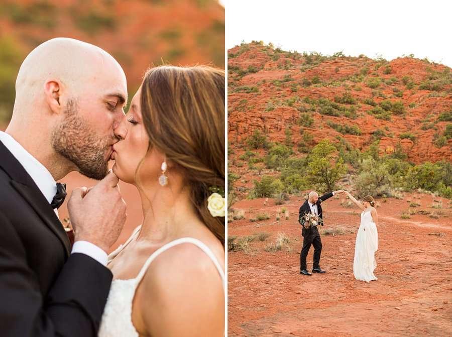 Holly and Erick - AZ Wedding Photographer Sedona - Kiss