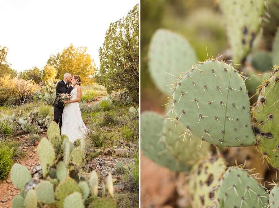 Holly and Erick - AZ Wedding Photographer Sedona - Cacti