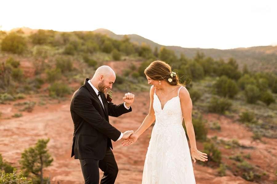 Holly and Erick - AZ Wedding Photographer Sedona - Dance Moves