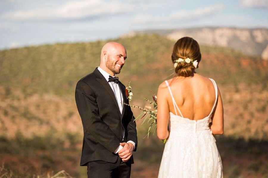 Holly and Erick - AZ Wedding Photographer Sedona - Ceremony
