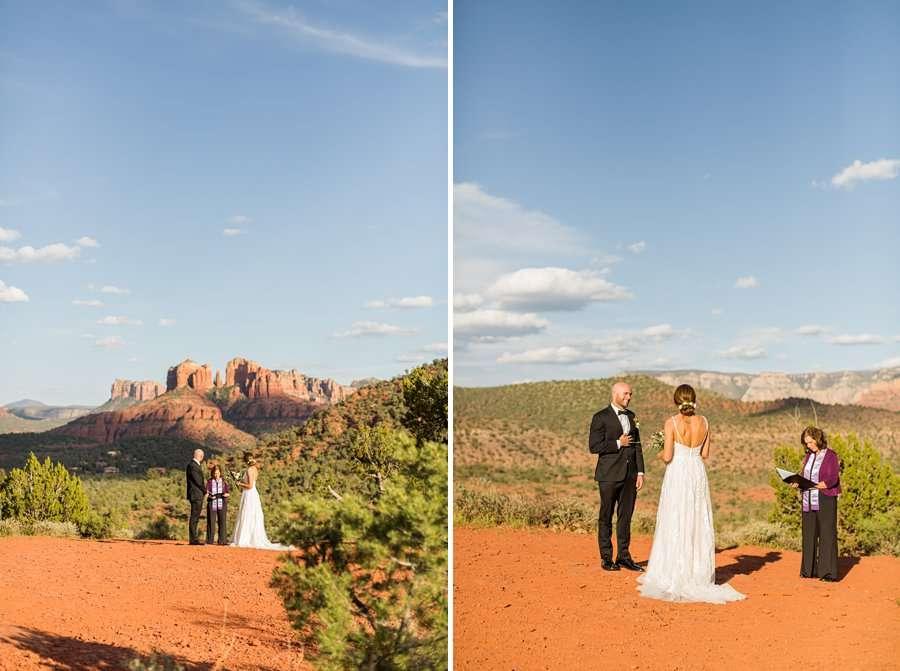 Holly and Erick - AZ Wedding Photographer Sedona - Bride and Groom