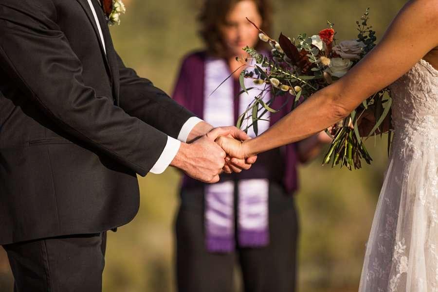 Holly and Erick - AZ Wedding Photographer Sedona - Hands