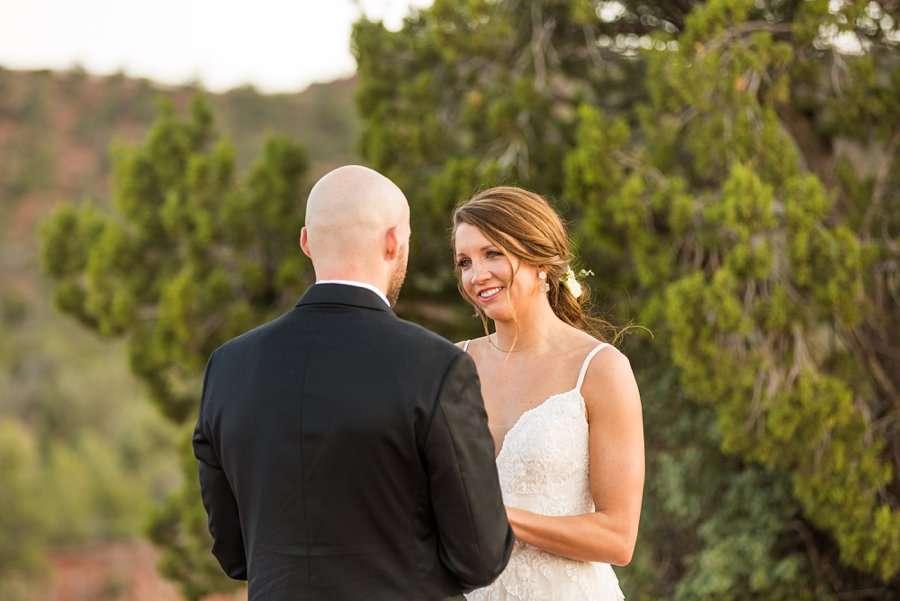 Holly and Erick - AZ Wedding Photographer Sedona - Her View