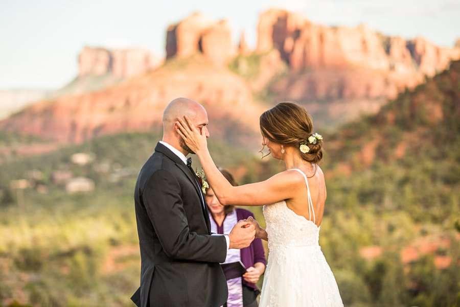 Holly and Erick - Sedona Arizona Elopement Photography - Emotion
