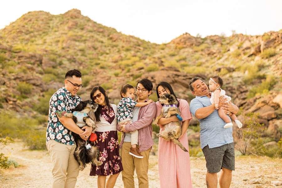 The Martin Family: Tempe Arizona Family Photographers together