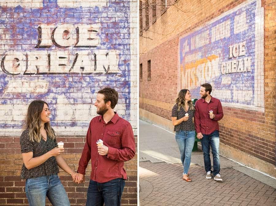 Natalia and Sean: Northern Arizona Portrait Photography ice cream love